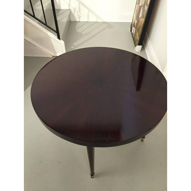 1940s French Art Deco Round Occasional Table For Sale - Image 5 of 6