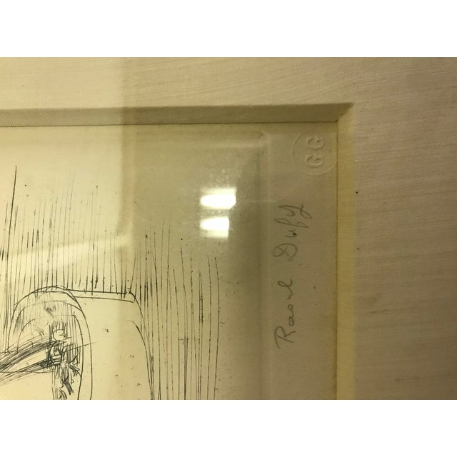 1940s Abstract Original Raoul Dufy Framed Etching For Sale In New York - Image 6 of 8