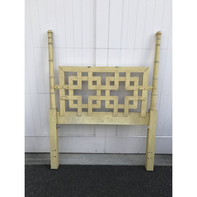 Vintage Dixie Shangri La Fretwork Twin Headboard For Sale - Image 5 of 6