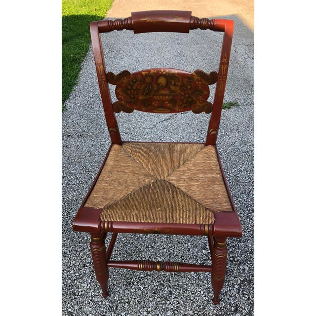 Paint Vintage Mid-Century L. Hitchcock Turtle Back Chair For Sale - Image 7 of 7