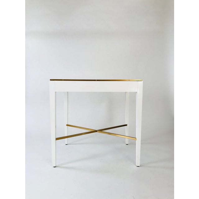 2010s Modern History Georgian White End Table For Sale - Image 5 of 5