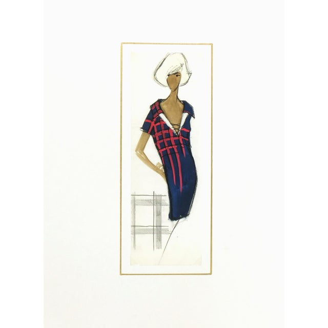 Balmain Shirt Dress Fashion Sketch - Image 3 of 3