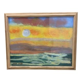 Vintage Framed Seascape Painting For Sale