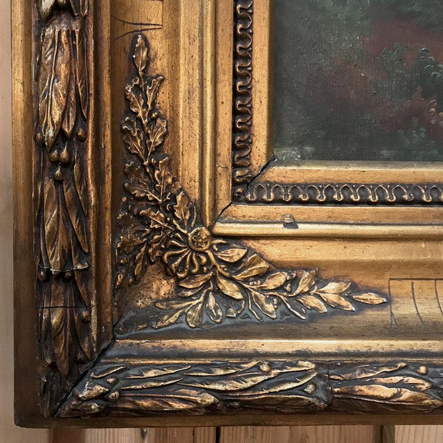 Pair 19th Century Framed Oil Paintings on Canvas For Sale - Image 10 of 13