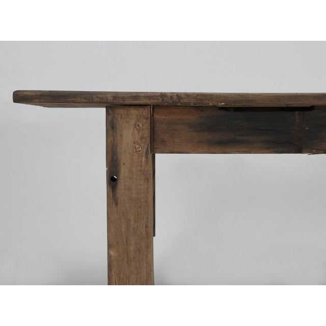 Antique French Rustic Industrial Work Table For Sale - Image 10 of 11