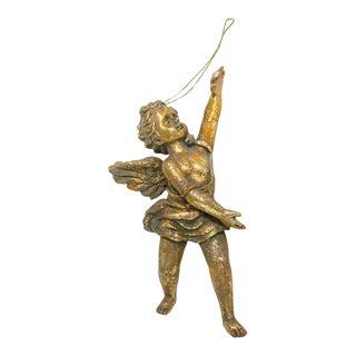 1960s Gold Gilt Angel For Sale