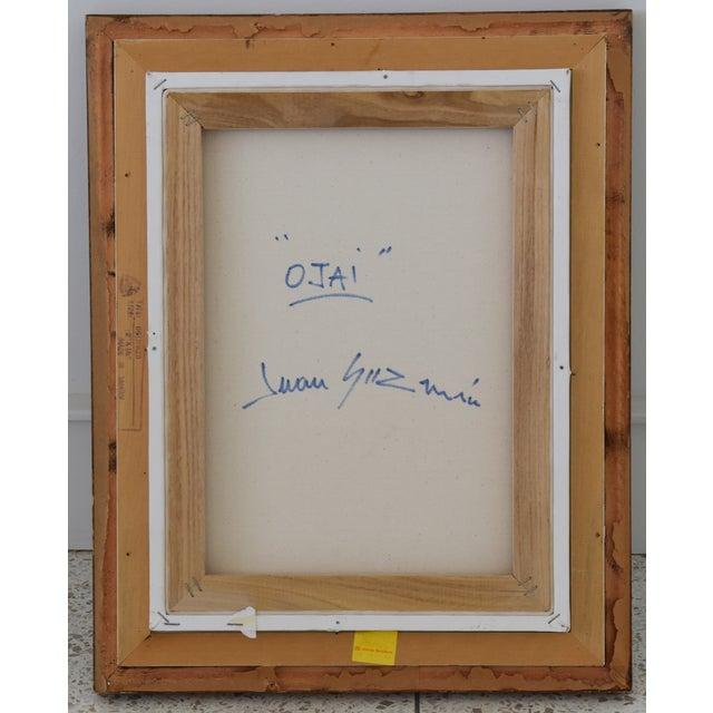 "Canvas Original Juan ""Pepe"" Guzman, Ojai California Plein Air Landscape Painting For Sale - Image 7 of 9"