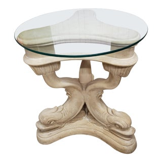 1950s Italian Neoclassical Dolphin Table For Sale