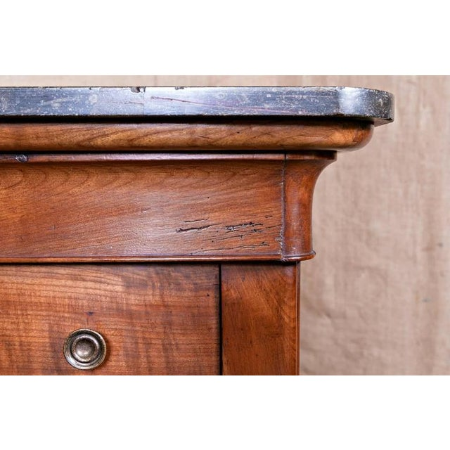 19th Century French Restauration Period Commode With Saint Anne Marble Top For Sale - Image 10 of 11