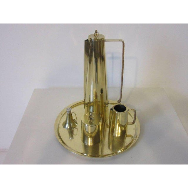 Brass Einar Dragsted Coffee or Tea Set Made in Denmark - 5 pieces For Sale - Image 7 of 7