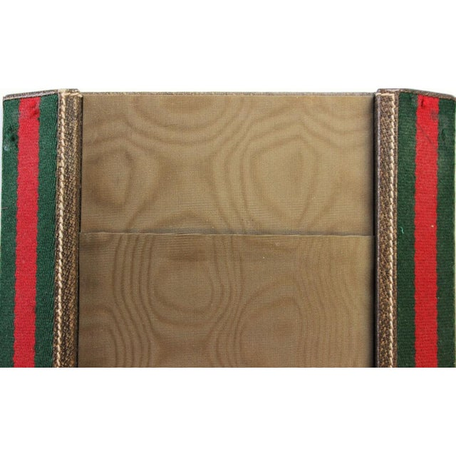 Italian Gucci Green & Red Desk Blotter For Sale - Image 3 of 4