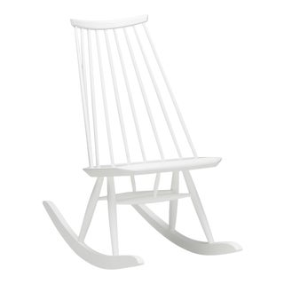 Mademoiselle Rocking Chair in White by Ilmari Tapiovaara & Artek For Sale