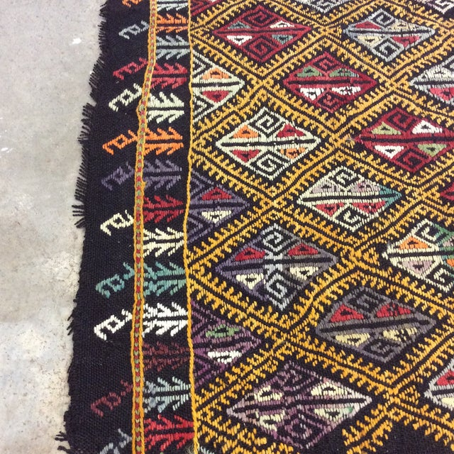 "1960's Turkish Kilim - 5'6""x8'1"" For Sale In Richmond - Image 6 of 10"