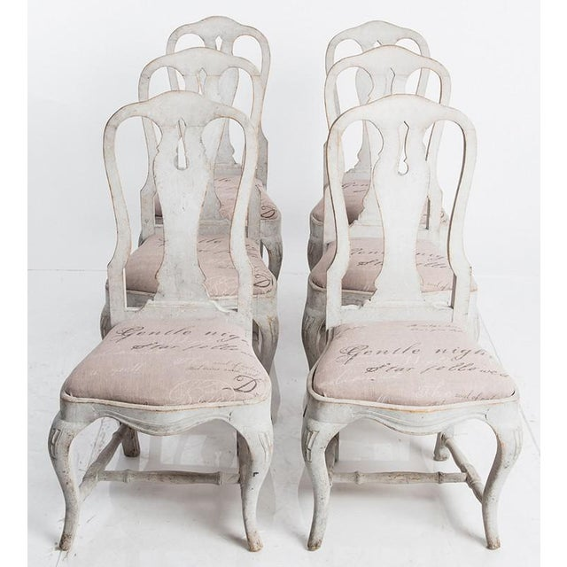 Gustavian (Swedish) Antique Swedish Dining Chairs For Sale - Image 3 of 6