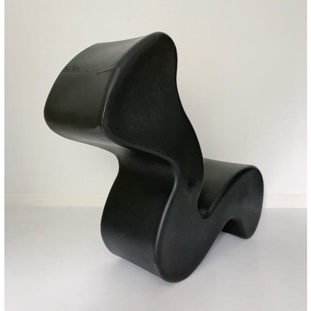 Contemporary 1990s Vintage Verner Panton Black Phantom Chair For Sale - Image 3 of 11