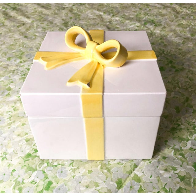 Pretty Yellow Ribbon Box For Sale - Image 4 of 4