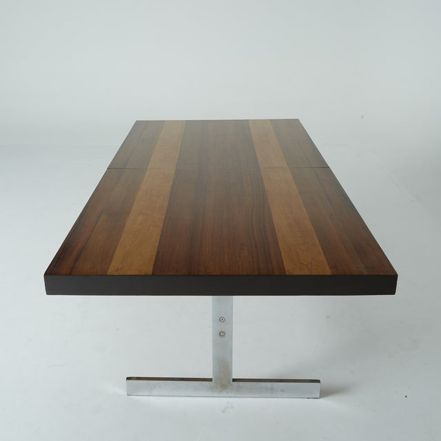 Expandable Mixed Wood Milo Baughman Dining Table - Image 3 of 7