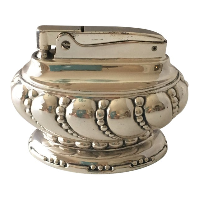 Ronson Silverplate Table Lighter For Sale
