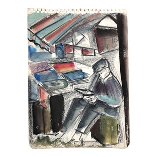 Bookseller by Helen Malta 1930s For Sale