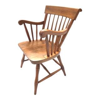 Vintage Rock Maple Nichols & Stone Side Chair / Arm Chair For Sale
