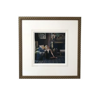 """Designers' Homes, Nico with Dachshunds, 2007"" Framed Fashion Photo by Mark Shaw For Sale"