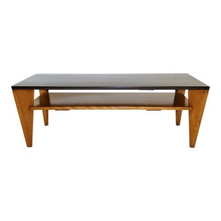 Russel Wright for Conant Ball Blond and Ebonized Birch Coffee Table 1940s For Sale
