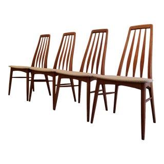 Niels Koefoed Danish Modern Teak Dinig Chairs - Set 4 For Sale