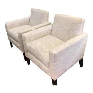 Modern Transitional Occasional Chair For Sale