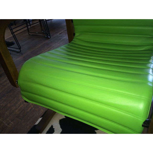 Thonet Bentwood Lounge Chairs in Green - A Pair - Image 7 of 8