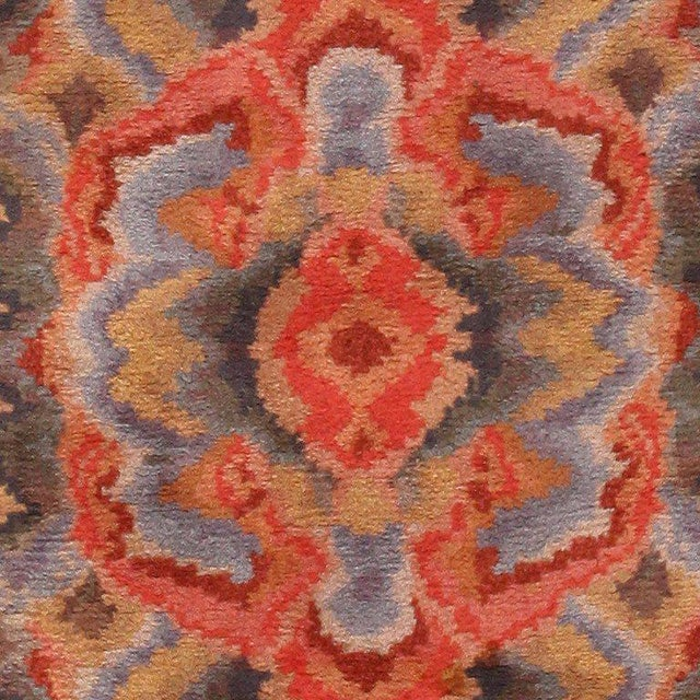 Textile Vintage Swedish Abstract Floral Rug - 10′ × 12′ For Sale - Image 7 of 8