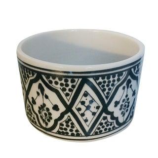 Modern Round Black Porcelain Planter For Sale