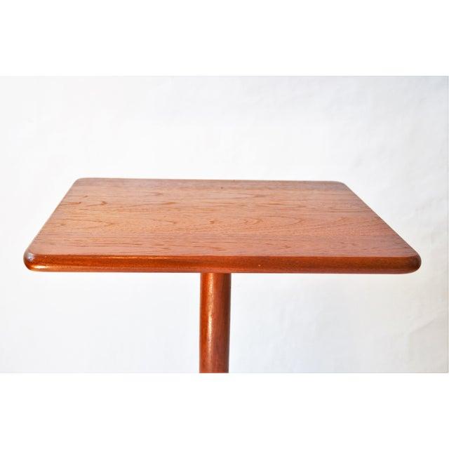 Hans Andersen 1970s Mid-Century Modern Teak Pedestal Side Table For Sale - Image 4 of 11