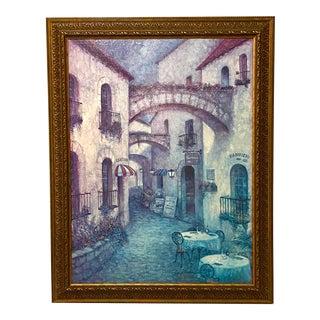 Italian Cafe Blue Wall Art For Sale