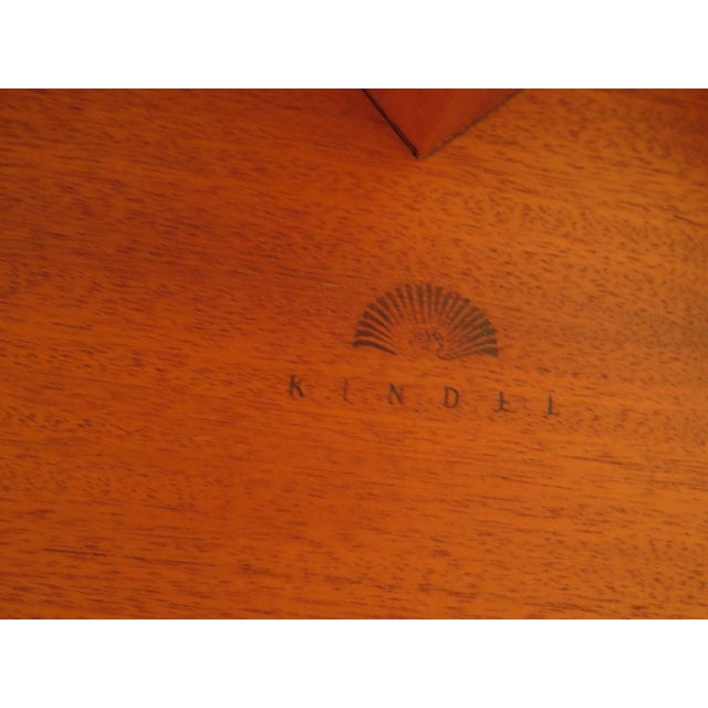 1990s Vintage Kindel NeoClassical Mahogany Dining Room Table For Sale - Image 12 of 13