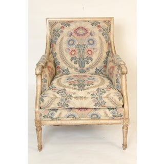 Louis XVI Style Painted Bergere Chairs - a Pair Preview