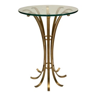 Modern Brass Finished Side Table Prototype For Sale