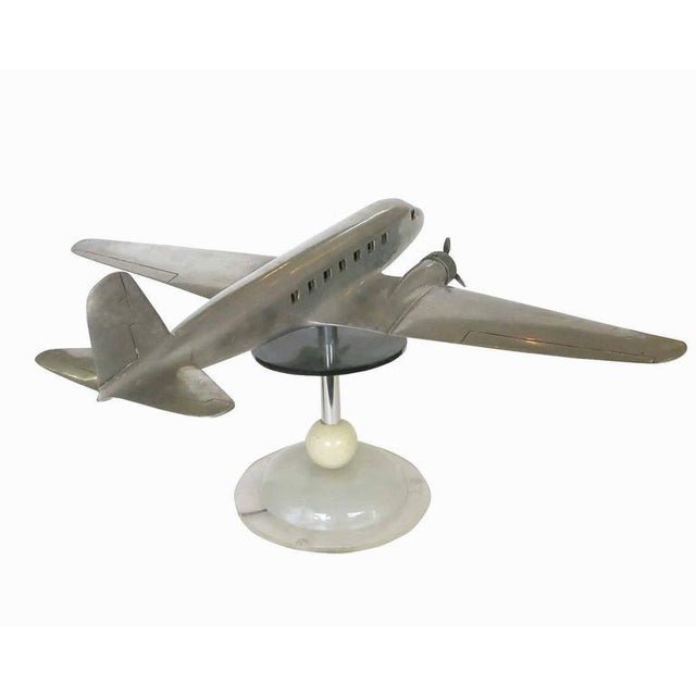 Douglas DC-2 Airplane Aluminum Model Lamp, circa 1934 - Image 3 of 10