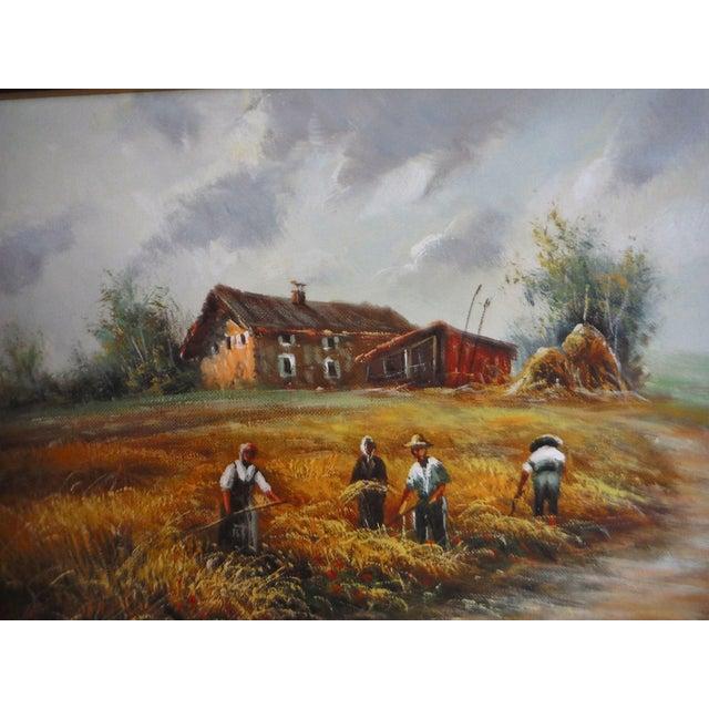 Farmhouse Harvest Original Oil on Canvas - Image 4 of 8