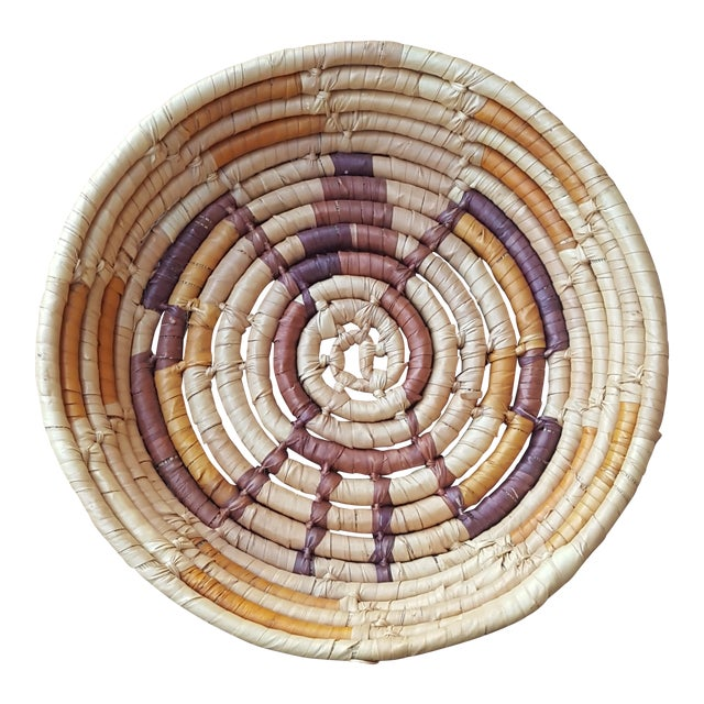 Native American Style Hand Woven Basket - Image 1 of 5
