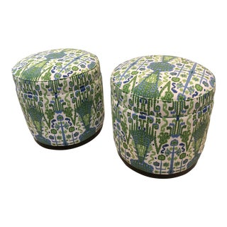 Highland House Grant Swivel Ottomans - Pair For Sale