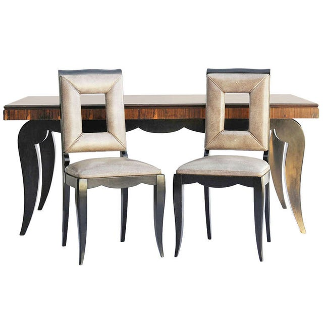 Art Deco Dining Table & 8 Chairs - Style of Leleu - Image 1 of 10
