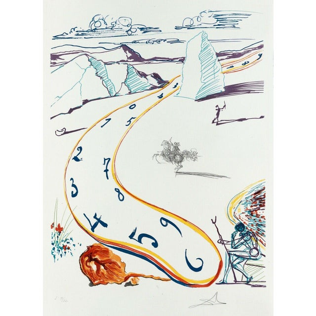 """1975 """"Melting Space-Time"""" Limited Edition Lithograph After Salvador Dali For Sale"""