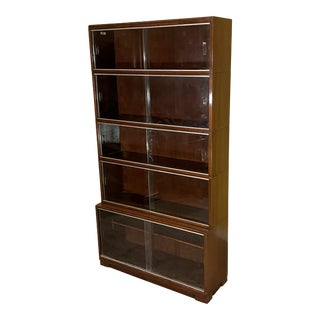 Vintage Barrister Lawyers Library Stacking Display Bookcase For Sale