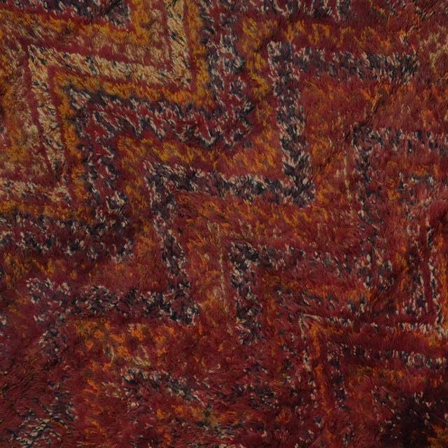 Berber Moroccan Rug in Raspberry -- 5'9 X 9'10 For Sale - Image 5 of 5