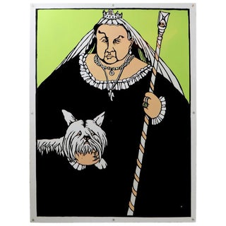 Pop Art Graphic Design Advertising Sign Queen Victoria by Lars Hokanson For Sale