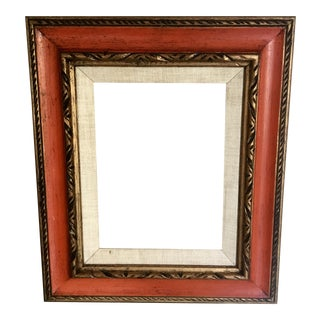 Mid-Century Orange & Gold Frame
