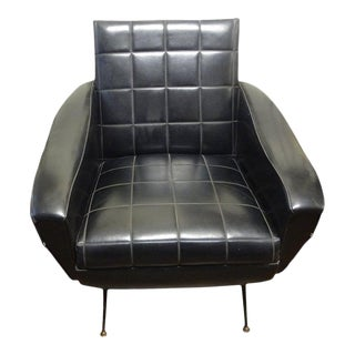 Italian Sculptural Lounge Chair in the Manner of Gio Ponti For Sale