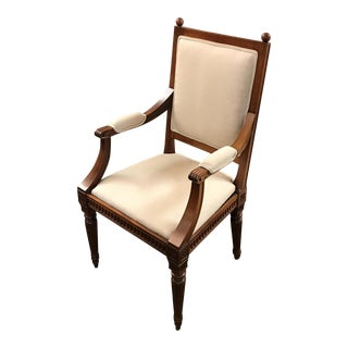 Newly Upholstered Fluted Armchair