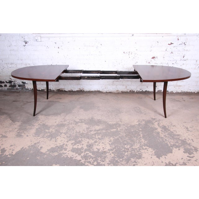 Harvey Probber Harvey Probber Mid-Century Modern Saber Leg Rosewood Extension Dining Table, Newly Refinished For Sale - Image 4 of 13