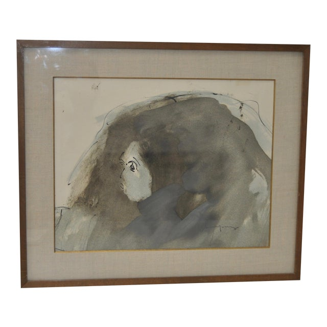 Abstract Figure Watercolor by John Young - Image 1 of 6